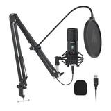 Micrófono Usb Maono Pm421 Podcast Condensador Profesional