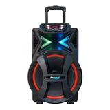 Caixa De Som Amvox Power X Aca 501 New X Portátil Com Bluetooth Preta 110v/220v