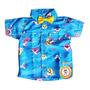Camisa Temática Iantil Social Menino Festa - Vários Temas Original