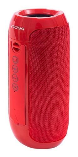Parlante Noga Pk24 Bluetooth 10w Portátil Rojo Tienda Hyt