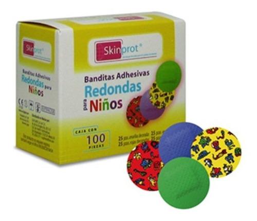 Skinprot Curitas Banditas Adhesiva Redonda Para Niños 100pz