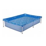 Piscina Estrutural Retangular Mor 001002 Com Capacidade De 1000 Litros De 1.89m De Comprimento X 1.26m De Largura  Azul Água