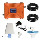 Kit Repetidor Amplificador Señal De Celular Gsm 3g Antena