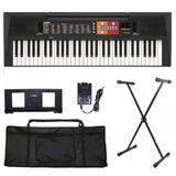 Kit Teclado Musical Yamaha Psr-f51 + Suporte + Capa