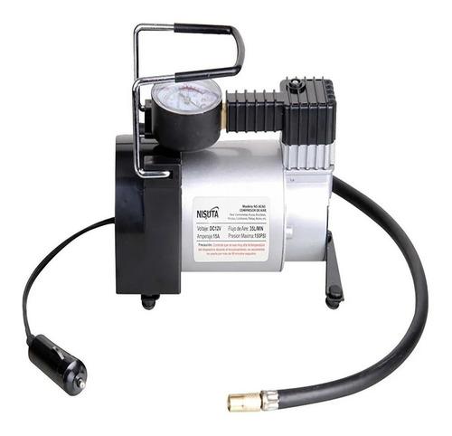 Compresor De Aire Mini Batería Portátil Nisuta Nsac60 12v