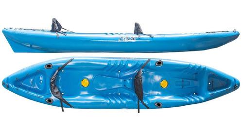 Kayak Hidro2eko Solar Duo Azul C/p. Caña- Kayaks Feelfree