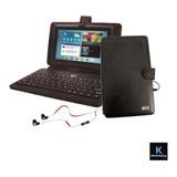 Kit Tablet 10.1 PuLG Estuche Con Teclado Usb Y Audífono / K