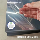 50 Folhas De Acetato Pet Transparente - 20x30cmx0,20mm Esp.