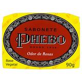 Sabão Em Barra Phebo Vegetal Odor De Rosas De 90 G