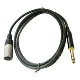 Par (2) Cables Xlr Plug Trs Balanceados Monitores Grabacion