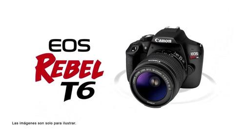 Camara Profecional Canon Rebel T6 Como Nueva 1100 Disparos