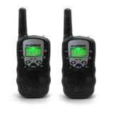 Radios Mini Walkie Talkie Boquitoqui X 2 Und Negro Economico