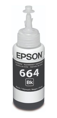 Tinta Epson Original T664 L355 L380 L395 L495 L1300 Negra