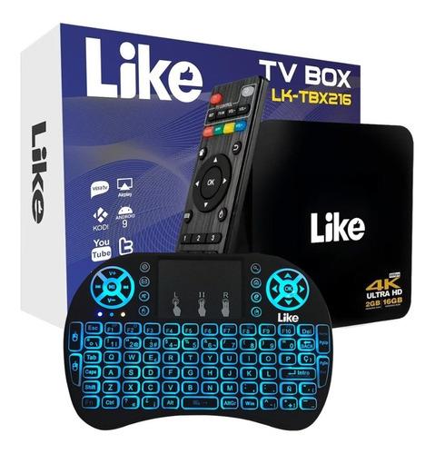 Tv Box Like 2gb + 16gb Tv Android Con Teclado Smart Dimm