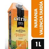 Jugo Natural Citric Naranja Valencia Tardía Con Pulpa 1litro