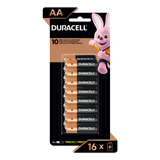 Pilha Alcalina Aa Pequena Duracell Com 16 Unidades
