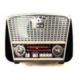 Radio Vintage Solar Am / Fm / Usb / Bluetooth