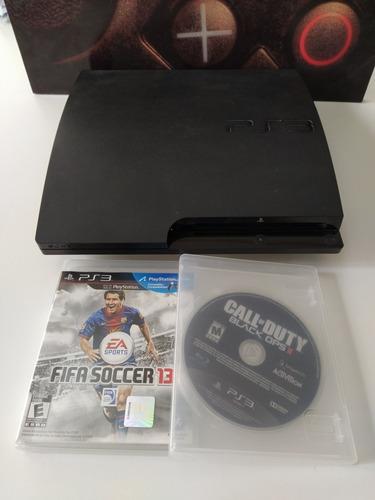 Playstation 3 Slim 160gb + 2 Juegos Fisicos, Sin Joystick.
