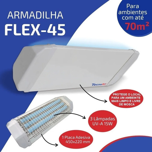 Armadilha Luminosa Flex-45 Mata Mosca Insetos Muriçoca Zica