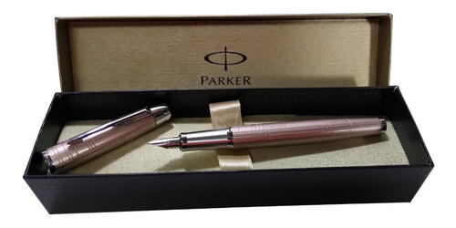 Pluma Estilográfica Parker Im Premium Metallic Rosa