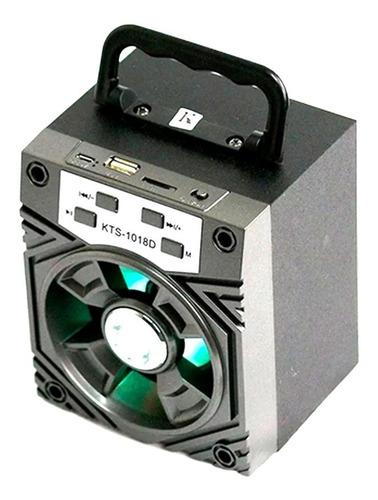 Parlante Bluetooth Inalámbrico Potente Con Luces Kts-1018d