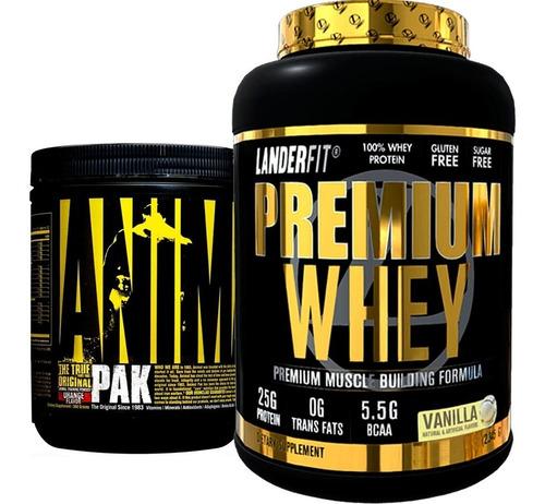 Animal Pak Universal Polvo + Proteina Landerfit 2 Libras Usa