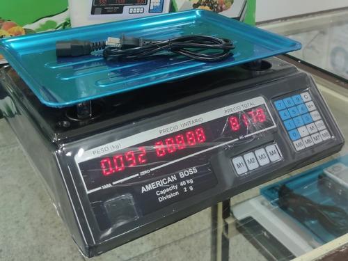 Peso Balanza 40kg Dígital Doble Pantalla 40kilos Nuevo