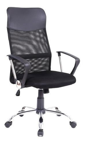 Cadeira Escritório Giratória Regulagem Altura Mesh Begônia
