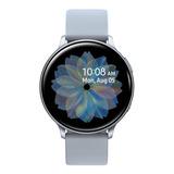 Samsung Galaxy Watch Active2 (bluetooth) 1.4  Caja 44mm De  Aluminio  Cloud Silver Malla  Cloud Silver De  Fluoroelastómero Y Bisel  Cloud Silver Sm-r820