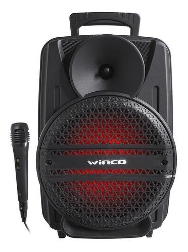 Parlante Portatil Bluetooth Karaoke Microfono Led Winco W238