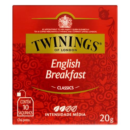 Chá Twinings Preto English Breakfast Em Sachê 20 G 10 U