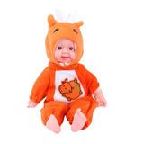 Bebote Bebe Muñeca Baby Con Pijama Capucha Y Sonido 40cm