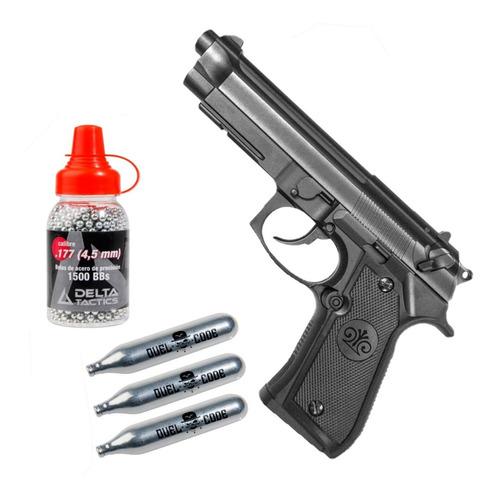 Pistola Co2 4.5 Mm Stinger Black 92 Plastica No Blowback