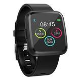 Smartwatch Tedge H1104a 1.3  Caja  Negra Malla  Negra De  Plástico Y Bisel De  Aleación De Zinc H1104a
