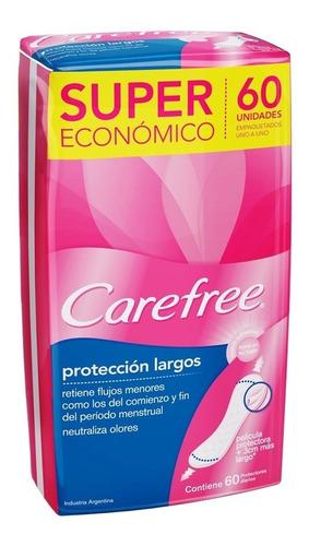 Carefree Protección Largos Neutraliza Olores 60 Unidaeds