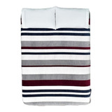 Cobertor Vianney Ligero King/queen Oxford/rojo/gris