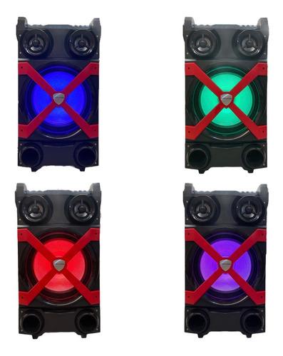 Parlante Bluetooth Portatil Karaoke Potente Microfono Usb Sd