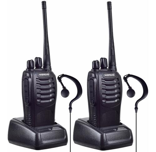 2 Radios Baofeng Bf-888s Uhf Con Manos Libres Set-2