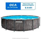 Piscina Intex Estructural Gris 16805l 457x122 + Bomba