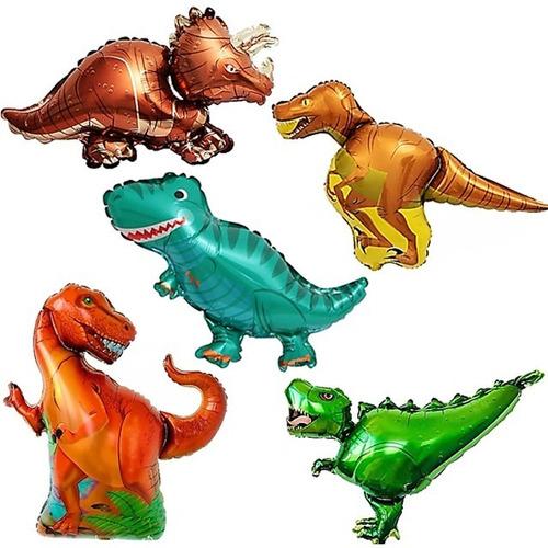 10 Globo Dinosaurio Surtido Cotillon Candybar Combo Animal