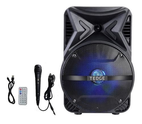 Parlante Karaoke 8 Watts Bluetooth Y Micrófono 8   Tedge