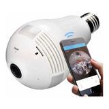 Camera Ip Seguraca Lampada Vr 360 Panoramica Espia Wifi V380