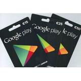 Tarjetas Google Play Via Codigo Ojo Para Cuentas Americanas