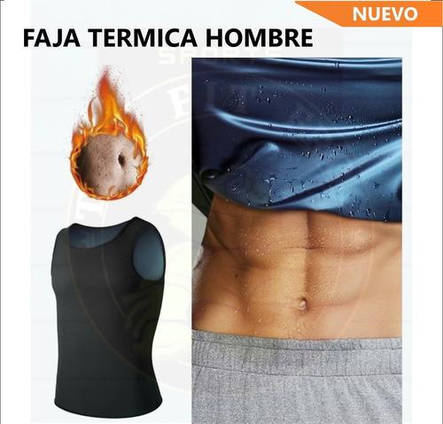 Faja Reductora Termica  Camiseta Sauna Shaper Hombre