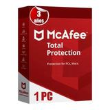 Mcaffe Antivirus Total Protection 1 Equipo Por 3 Años