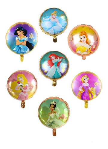 7 Globos Princesas Disney