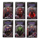 Avengers Muñecos Articulados Ironman Hulk Spiderman Thanos
