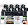 Kit 8 Cameras Segurança Full Hd 1080p Dvr Intelbras 8ch 1108 Original