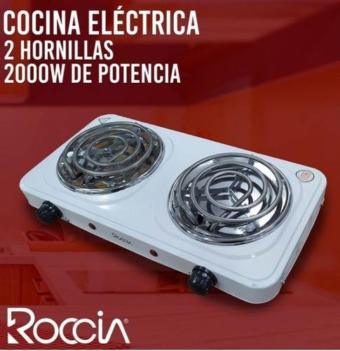 Cocina Electrica 2 Hornillas Marca Roccia 110v 2000 Watts