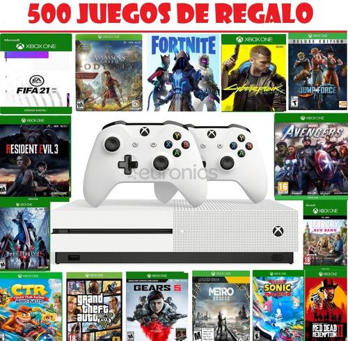 Xbox One S Nuevas 1tb + 2 Controles + Muchísimos Juegos